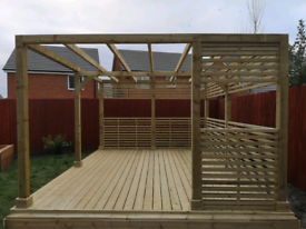 Decking Pergola Fitted