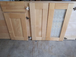 5 pc Birch  Shaker Style Doors and Drawer Fronts for sale