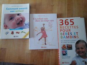 Lot de 3 livres sur l'alimentation des enfants