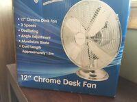 """12"""" Chrome Desk Fan"""