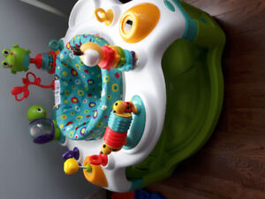 Exersaucer and playmat with lights and music