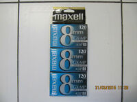 Maxell 3Pak GX-MP 120 8mm Camcorder Video Tape Limited Quantity