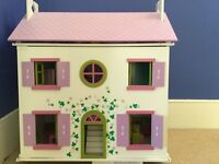 Dolls House including furniture and family