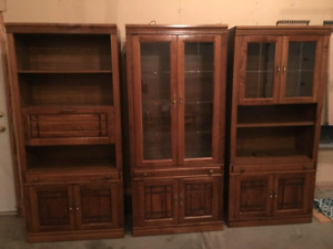 Set of 3 Curio Cabinets