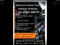 Motorcycle repairs and mot