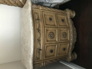 King size Canopy bed, 2 night stands