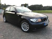 2006 56 BMW 1 SERIES 116i ES 1.6 Petrol 5dr Manual in Black metallic,Genuine 81k