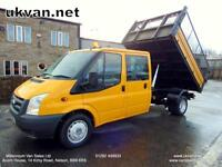 2009 FORD TRANSIT TIPPER, 7 SEAT, CREW CAB, DOUBLE CAB, CAGED DROPSIDE,ONE OWNER