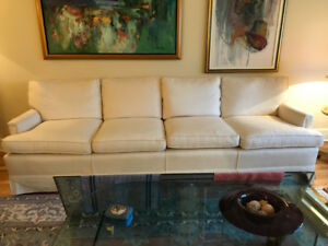 4 SEATER SOFA COUCH - DOWN FILLED CUSHIONS