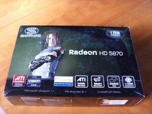ATI Radeon HD5870 PCIE Video card 1 Gig GDDR5 Kingston Kingston Area image 2