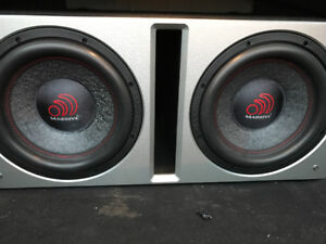 2x Massive audio Summo124 12 inch subwoofer barely used. i