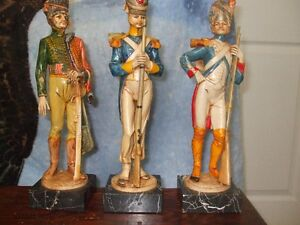 Set of (3) Fontanini Depose Infantry Figurines (Soldiers)