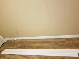 2 piece 5.25-in x 8-ft Baseboard Moulding and extra