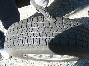 ALL SEASON TIRES 235/75 R15 on ALLOY RIMS