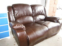 Double Recliner Love Seat Bonded Leather!