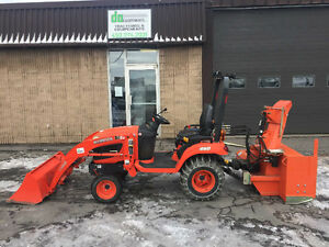 2012 Kubota BX2660 loader + souffleur + chaines *191 heures