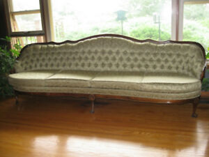 French Provincial Couch (8 foot long) plus two matching Chairs