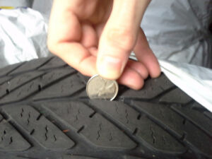 TWO 215 55 R16 GOOD YEAR ULTRA GRIP ICE WINTER TIRES