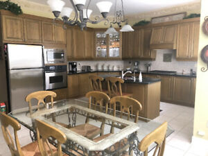 Used Kitchen Cabinets with granite counter tops and island