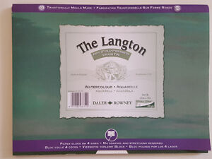 Watercolour Block (12 sheets), Langton, Made in UK Oakville / Halton Region Toronto (GTA) image 1