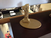 Gold glitter table numbers - 1-18