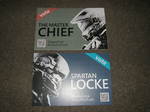 2 Pancarte Halo - Vote The Master Chief - Vote Spartan Locke