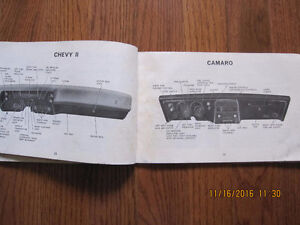 1968 Camaro, Chevelle and Chevy II Owners manual Sarnia Sarnia Area image 3