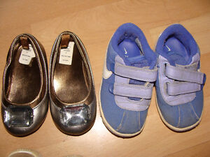 Gold shoes and Nike runner- Size 6
