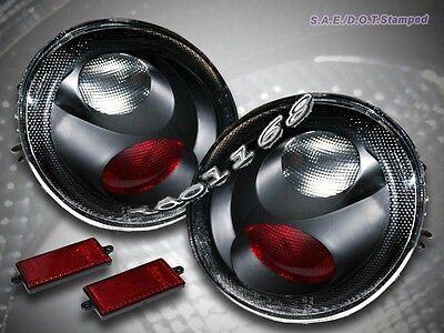 1998-2005 Volkswagen Beetle JDM Black Tail Lights Rear Lamps 1999 2000 2001