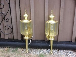 New Brass Carriage Lamps