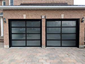 Full glass garage door - manufacturer