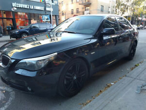 2008 BMW 5-Series black Sedan