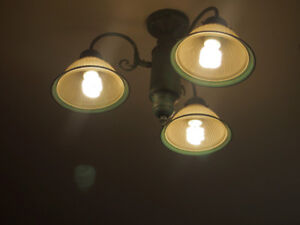 Matching 1 Ceiling Light and 2 wall scones - $50