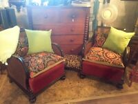 Antique Cane Arm Chairs