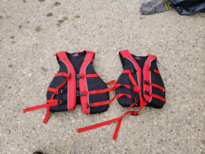 2 adult life jackets