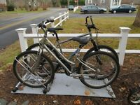 His & Her Giant Bikes & Bike rack Christopher Metcalfe Creation