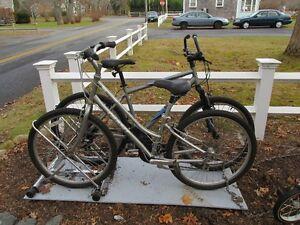 His & Her Giant Bikes & Bike rack Christopher Metcalfe Creation