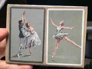Rare sealed Congress playing cards decks (2) with ballet dancers