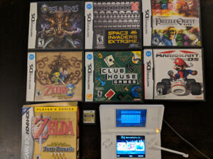 Nintendo DS with 8 games and R4 revolution card