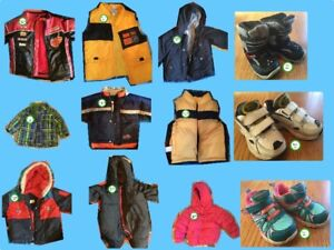 Assorted infant & toddler footwear and winter jackets