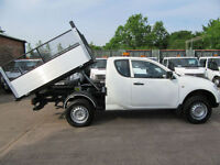 2013 Mitsubishi L200 2.5 4WD 24,000 King Cab 4x4 New Dropside Caged Tipper White