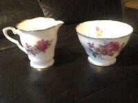 Royal Stafford bone china jug & bowl excellent condition.