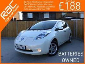 2013 Nissan Leaf 80kW 5 Door Zero Emission Electric Auto Sat Nav Rear Cam Blueto