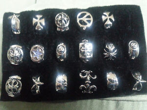 17 New Silver \Nickel Plated Rings