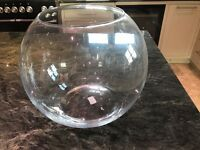 Large glass goldfish bowl