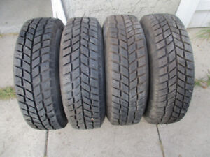 """Several sets of 14"""" winter tires.195/70/14 on 5x100 Sunfire rims"""