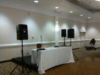 company staff party / do it yourself dj sound system