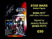 STAR WARS Autographed BOBA FETT Action Figure
