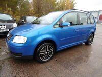 Volkswagen Touran 1.9 TDI PD SE (FULL SERVICE HISTORY + TIMING BELT) (blue) 2004