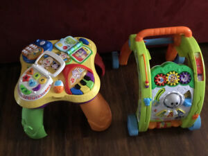 Kids walker and play table